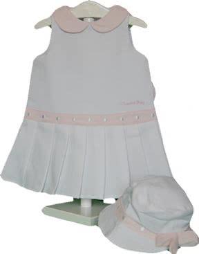 Conjunto vestido ye-ye y gorrita talla 3 a 6 meses