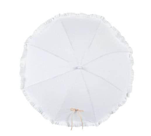 Sombrilla con flexo universal. Flor de seda